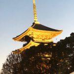黄昏時の東寺五重塔